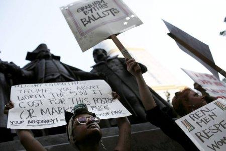 Акция протеста против Трампа в Чикаго