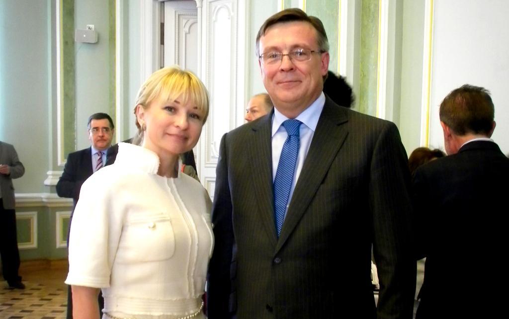 Виктория Лесничая, встреча с послами Евросоюза